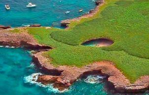 Het natuurschoon van Playa Del Amor in Mexico